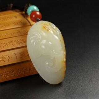 和田玉白玉籽料挂件玉质上乘精美雕工寓意吉祥