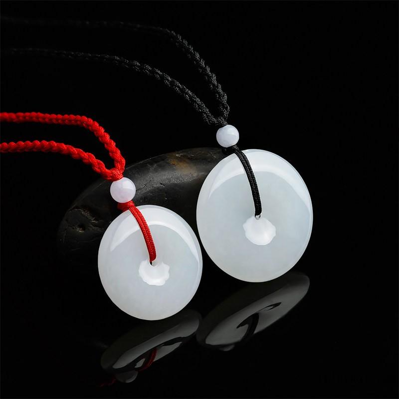 珠宝和田白玉平安扣吊坠男女玉坠玉石挂件佳礼
