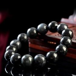 翡翠手链手串珠宝饰品 黑色精致翡翠手串