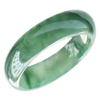 翡翠手镯a货阳绿飘花缅甸天然玉石女款翡翠玉镯珠宝带证书