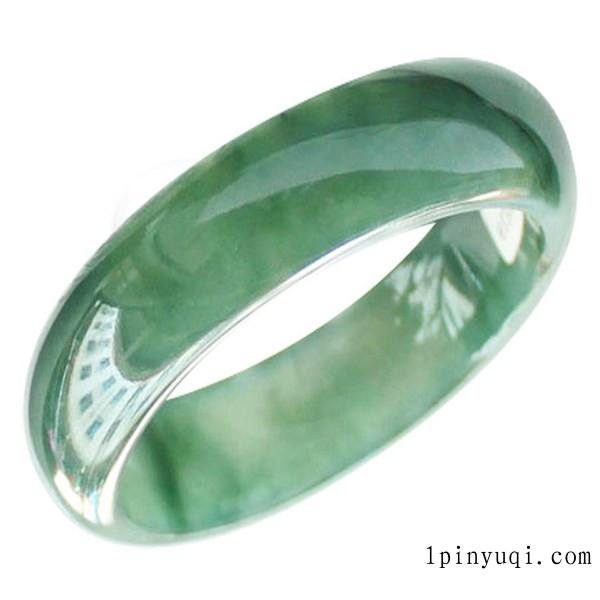 翡翠手镯A货阳绿飘花缅甸天然玉石翡翠玉镯女士珠宝带证书