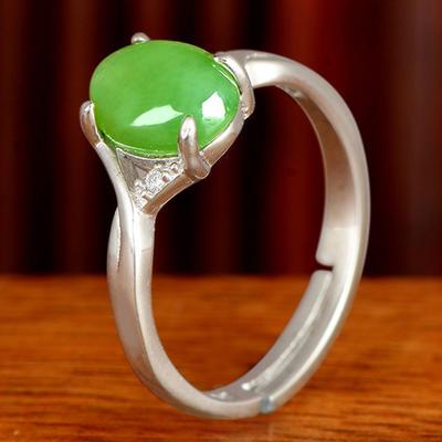 碧艺缘女款和田玉戒指指环戒子玉戒女戒珠宝玉石