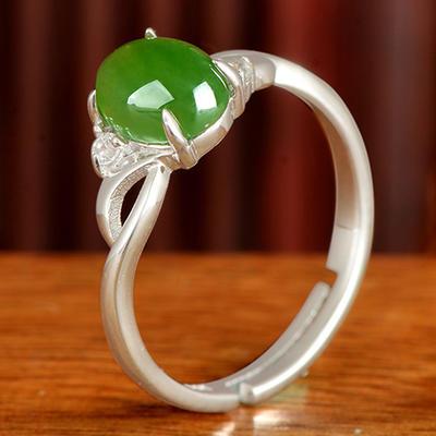 碧艺缘女和田玉戒指指环戒子玉戒女戒珠宝玉石活口