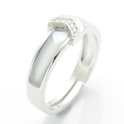 和芙玉 冰透和田玉白玉戒指女指环女玉戒指女