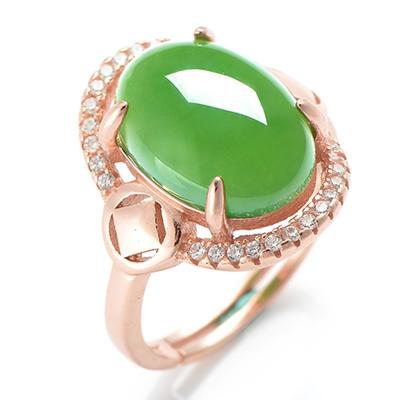 和芙玉和田玉戒指碧玉大玉戒女戒子女指环女珠宝玉石